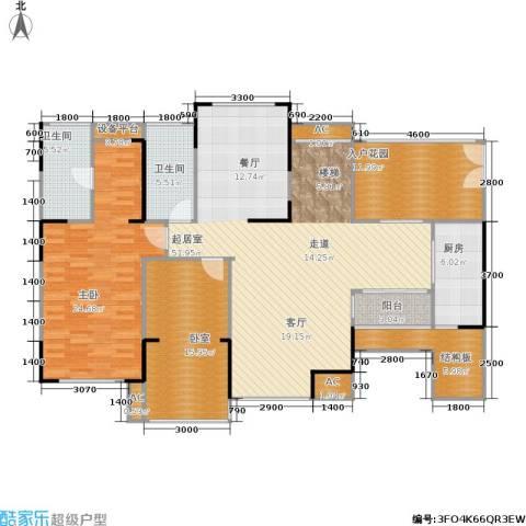 江宇天府城1室0厅2卫1厨266.00㎡户型图