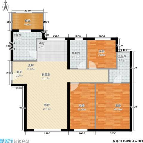 天润・香墅湾1号3室0厅3卫0厨136.00㎡户型图