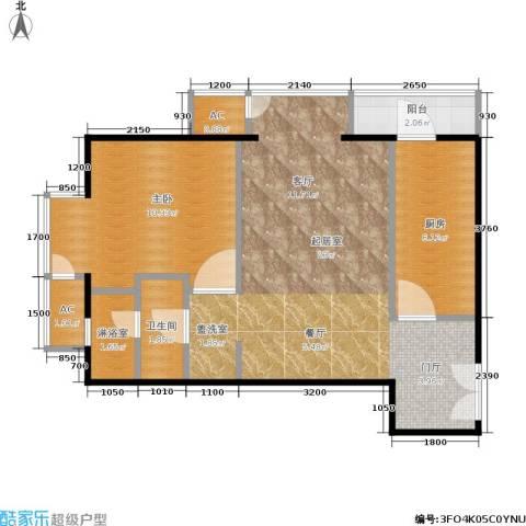 和平里de小镇1室0厅1卫1厨64.00㎡户型图