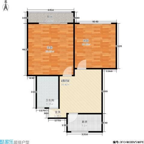 双眼井巷2室0厅1卫1厨75.00㎡户型图