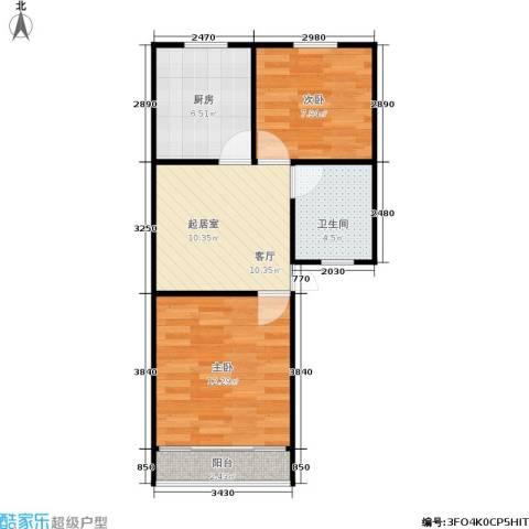 凤起苑2室0厅1卫1厨48.00㎡户型图
