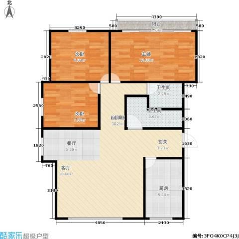 凤起苑3室0厅2卫1厨81.00㎡户型图