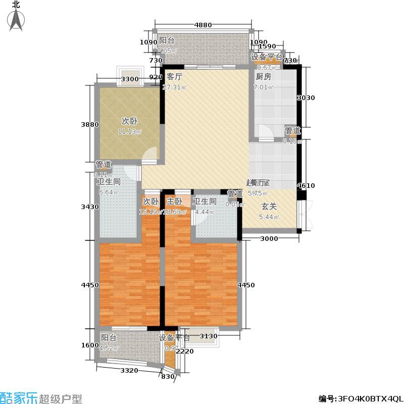 钱塘雅苑154.89㎡2面积15489m户型