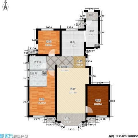 首创·伊林郡3室1厅2卫1厨127.00㎡户型图