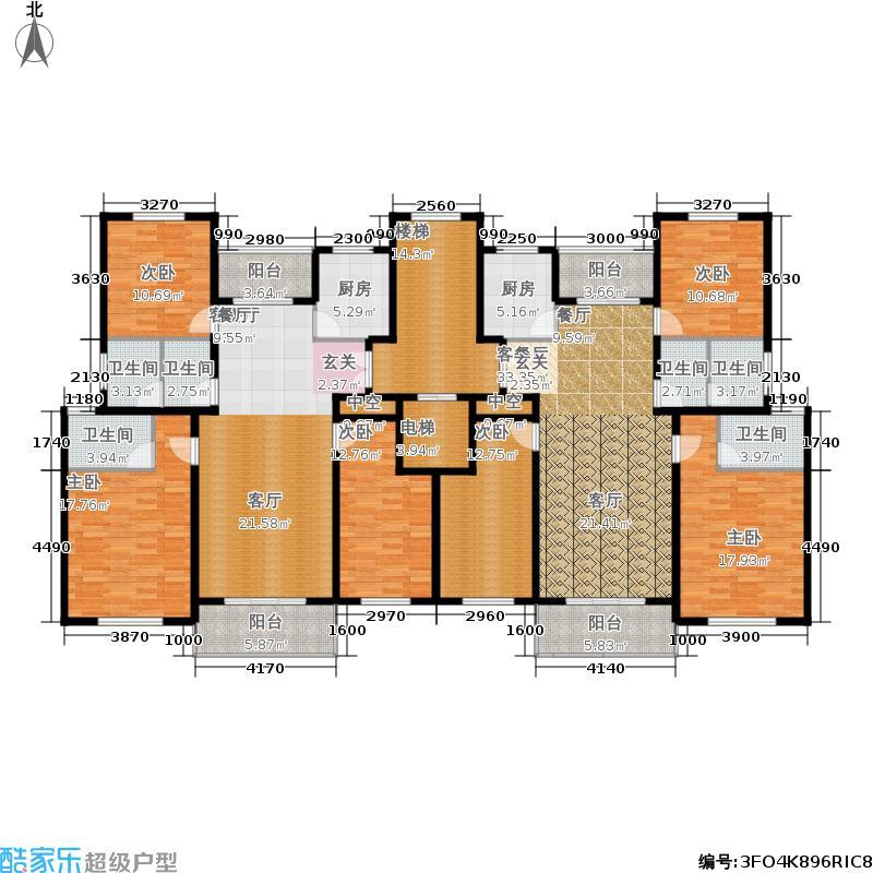 海南世纪花园户型6室2厅6卫2厨