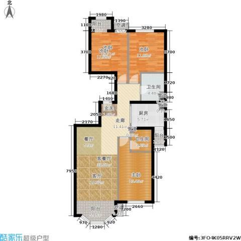 首创·伊林郡3室1厅2卫1厨128.00㎡户型图