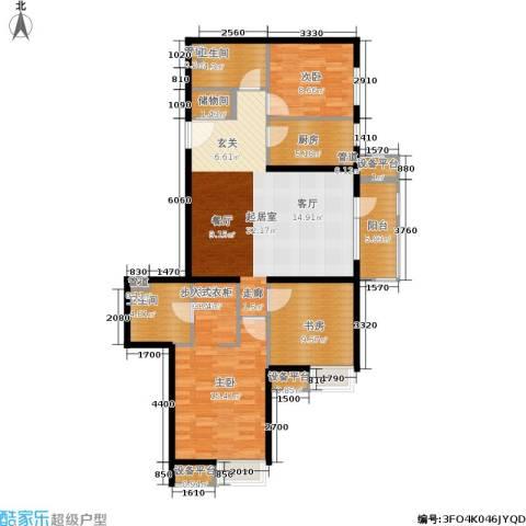 首开璞瑅3室0厅2卫1厨123.00㎡户型图