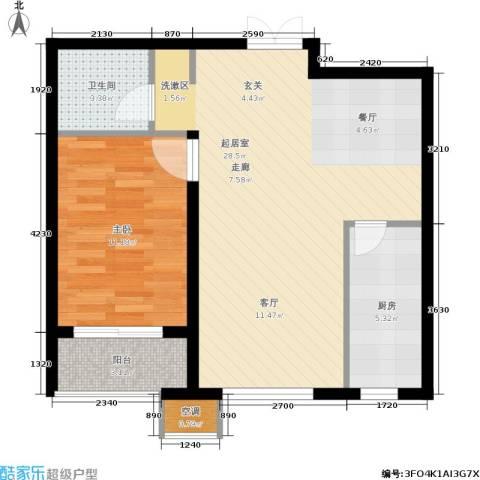 馨园丽景1室0厅1卫1厨74.00㎡户型图