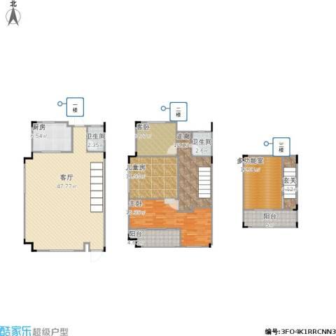 阿卡迪亚3室1厅2卫1厨178.00㎡户型图