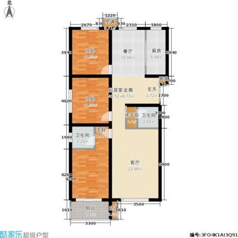 馨园丽景3室0厅2卫1厨143.00㎡户型图