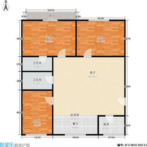 水星阁3室0厅2卫1厨125.00㎡户型图