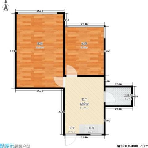 仓柱弄2室0厅1卫0厨45.00㎡户型图