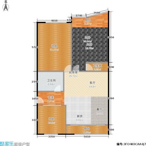 延龄苑3室0厅2卫0厨113.00㎡户型图