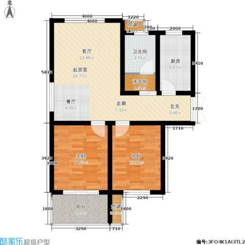 馨园丽景2室0厅1卫1厨95.00㎡户型图