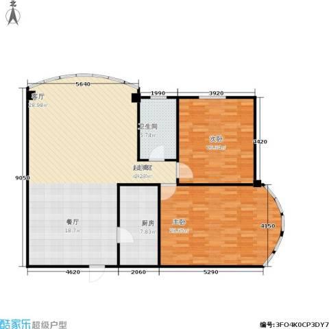 凤起苑2室0厅1卫1厨109.00㎡户型图