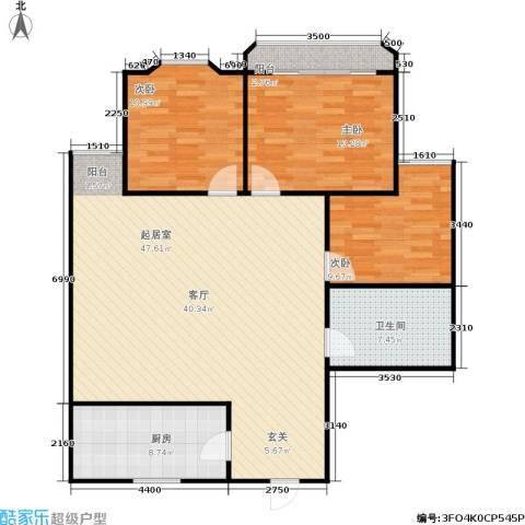 凤起苑3室0厅1卫1厨107.00㎡户型图