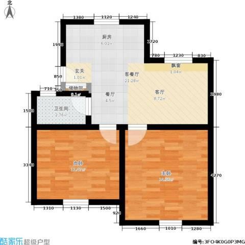 机神新村2室1厅1卫0厨58.00㎡户型图