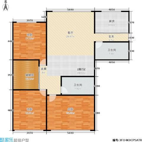 凤起苑3室0厅2卫1厨154.00㎡户型图