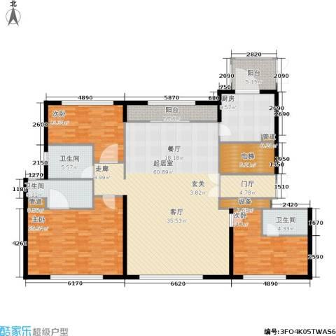 天润・香墅湾1号3室0厅3卫1厨180.00㎡户型图