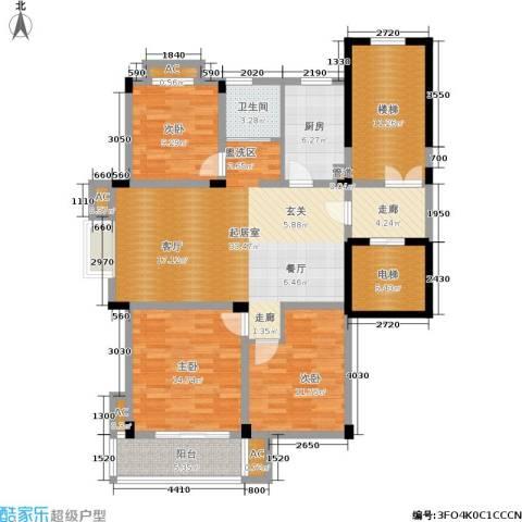 多蓝水岸银沙苑3室0厅1卫1厨118.00㎡户型图