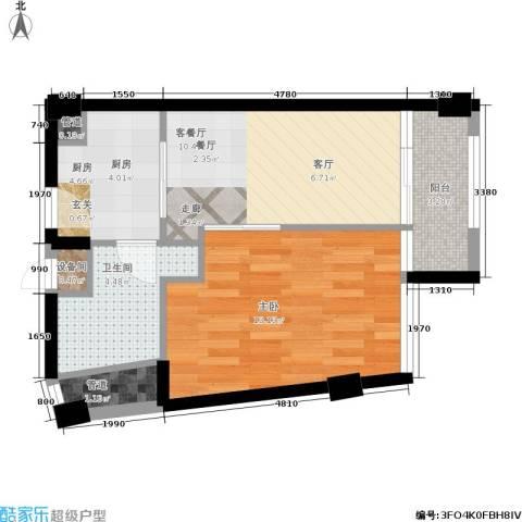 同方国际1室1厅1卫1厨40.00㎡户型图