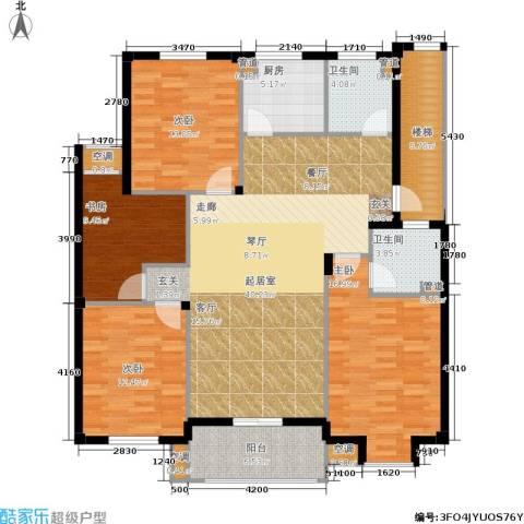 湖滨花园4室0厅2卫1厨130.00㎡户型图