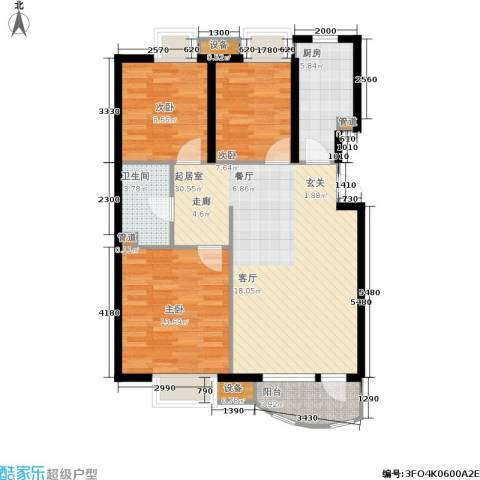 首创·澜茵山3室0厅1卫1厨97.00㎡户型图