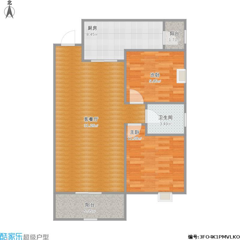 92平两室两厅