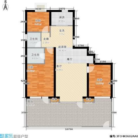 首创·澜茵山3室0厅2卫1厨117.96㎡户型图