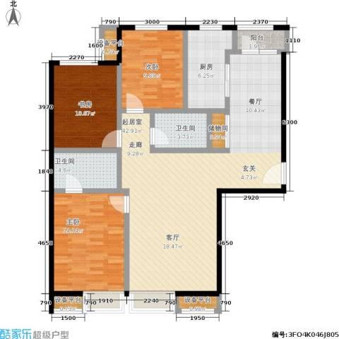 首开璞瑅3室0厅2卫1厨139.00㎡户型图