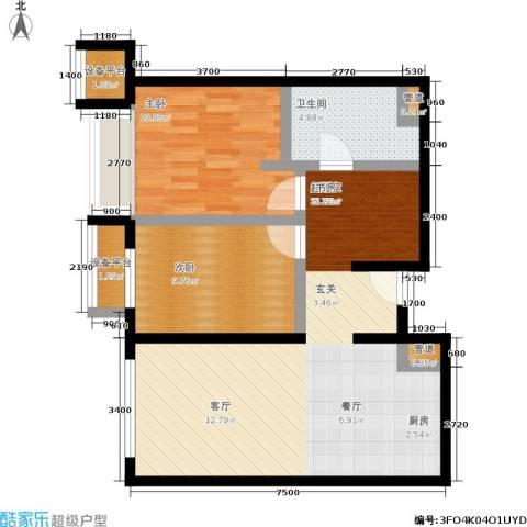 大西洋新城2室0厅1卫0厨97.00㎡户型图