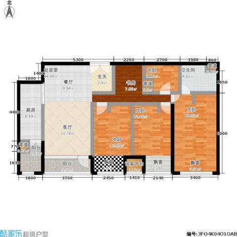大西洋新城4室0厅1卫1厨152.00㎡户型图