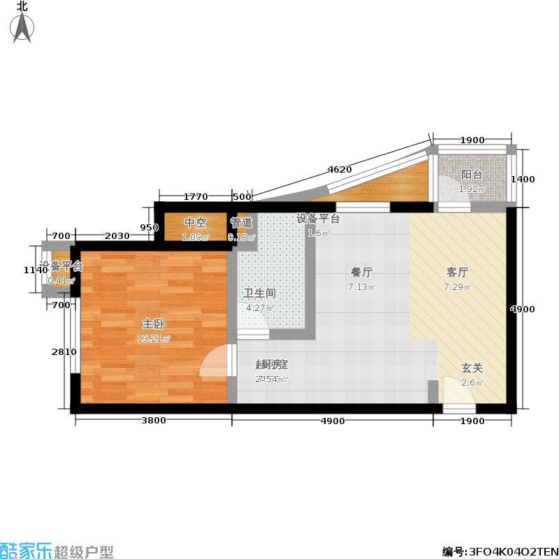 大西洋新城67.01㎡525号楼6-27层G(已售完)户型