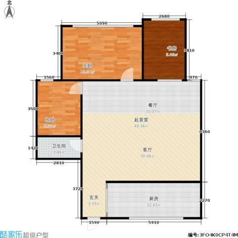 凤起苑3室0厅1卫1厨106.00㎡户型图