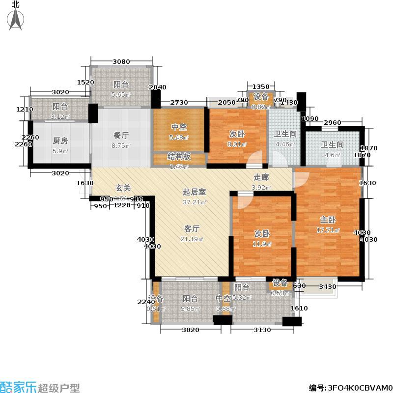 世茂首府134.00㎡2、9、10号楼4-面积13400m户型