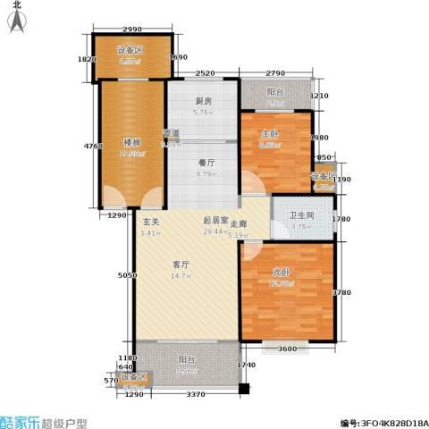 德润园2室0厅1卫1厨86.70㎡户型图