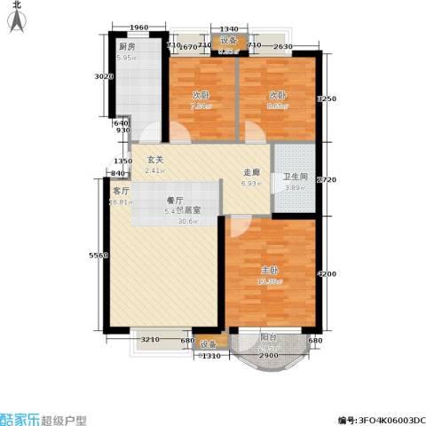 首创·澜茵山3室0厅1卫1厨99.00㎡户型图