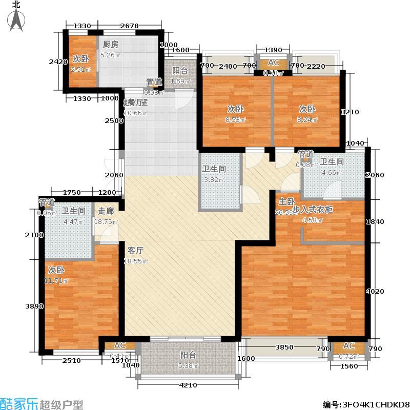 世华水岸174.95㎡四居-12面积17495m户型