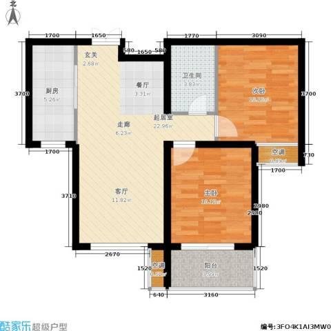 馨园丽景2室0厅1卫1厨83.00㎡户型图