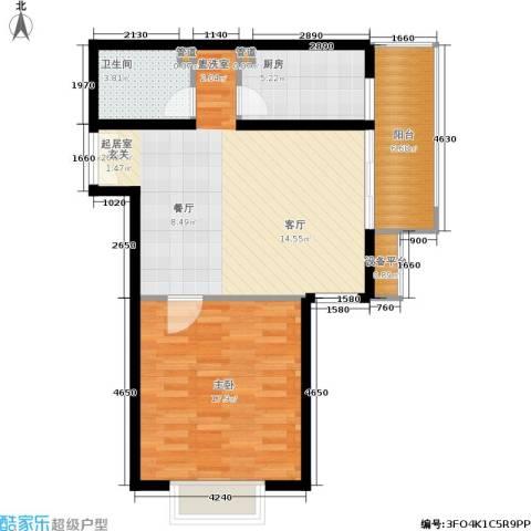 东恒时代一期1室0厅1卫1厨69.00㎡户型图