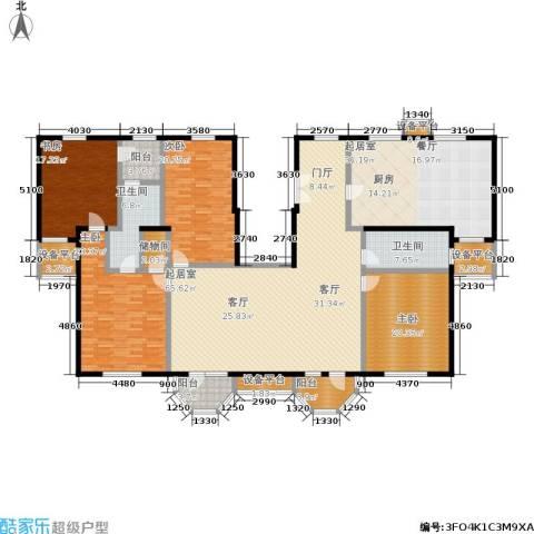 中海城圣朝菲4室0厅2卫0厨302.00㎡户型图