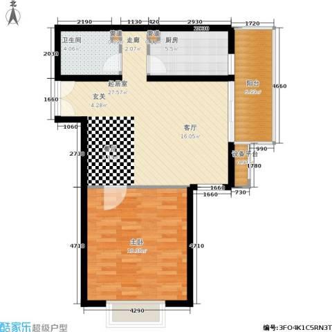东恒时代一期1室0厅1卫1厨72.00㎡户型图