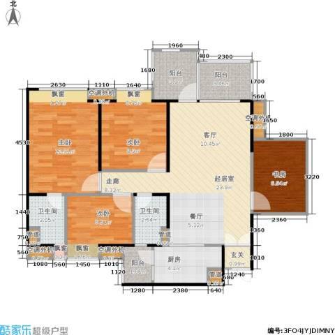 东海花园4室0厅2卫1厨122.00㎡户型图