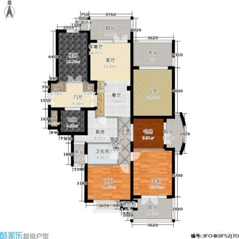 华鸿罗兰春天3室1厅1卫1厨130.32㎡户型图