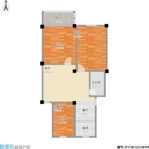 港城嘉苑3室1厅1卫1厨105.00㎡户型图