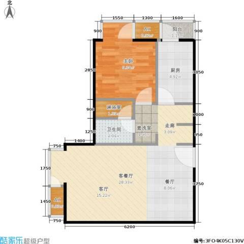 和平里de小镇1室1厅1卫1厨67.00㎡户型图