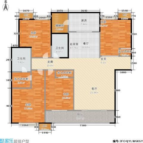 星雨华府4室0厅2卫1厨160.00㎡户型图