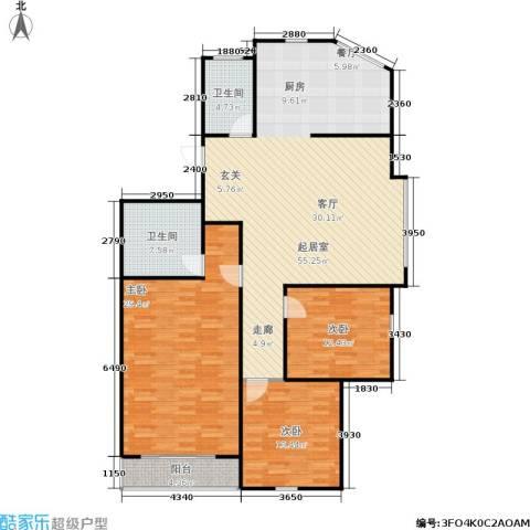 朝晖苑3室0厅2卫0厨135.00㎡户型图