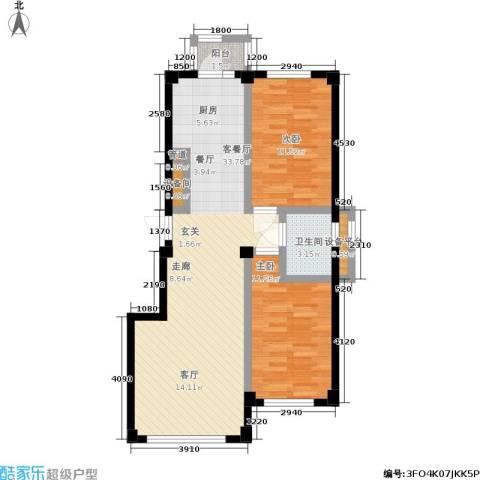 中瀛臻堡2室1厅1卫0厨73.34㎡户型图