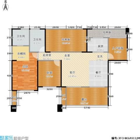长城半岛城邦1室0厅2卫1厨124.20㎡户型图